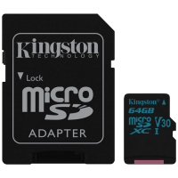 Canvas Go Kingston, micro SD kartica sa adapterom, 64GB