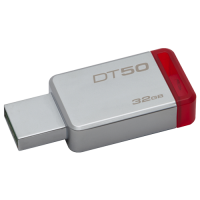 DataTraveler 50, Kingston flash disk drive 32GB, boja sivo-crvena, 32GB