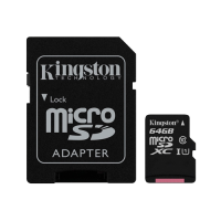 Canvas Select Kingston, micro SD kartica sa adapterom, 64GB